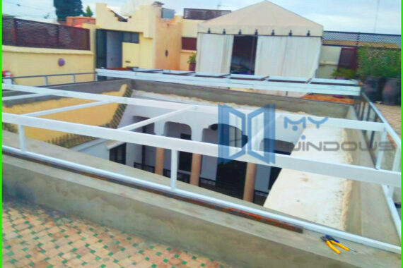 Couverture toit veranda